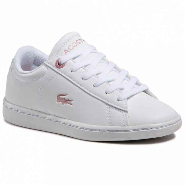 Sneakersy LACOSTE - Carnaby Evo 0921 1 Suc 7-41SUC00021Y9 Wht/Lt Pink