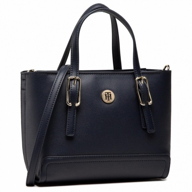 Kabelka TOMMY HILFIGER - Honey Small Tote AW0AW09656 BLU