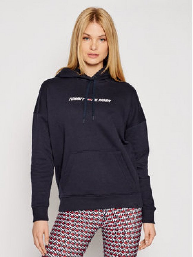 Tommy Hilfiger Mikina Graphic Hoodie Ls S10S100980 Tmavomodrá Relaxed Fit