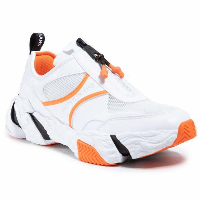 Sneakersy CALVIN KLEIN JEANS - Runner Sneaker Zip Pu-Ny YW0YW00094 Bright White YAF