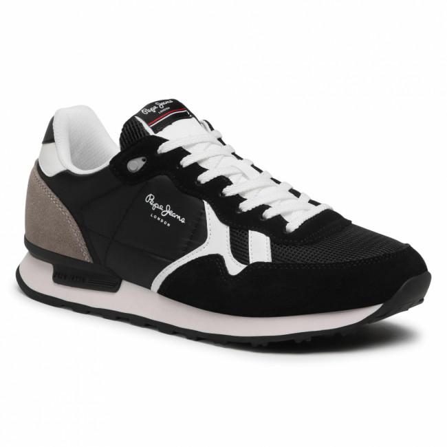 Sneakersy PEPE JEANS - Britt Man Basic PMS30721  Antracite 982