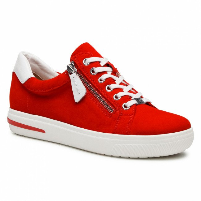 Sneakersy CAPRICE - 9-23753-26 Red Suede 524