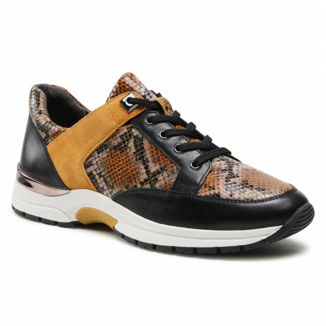 Sneakersy CAPRICE - 9-23700-25 Curry Snake Co 620