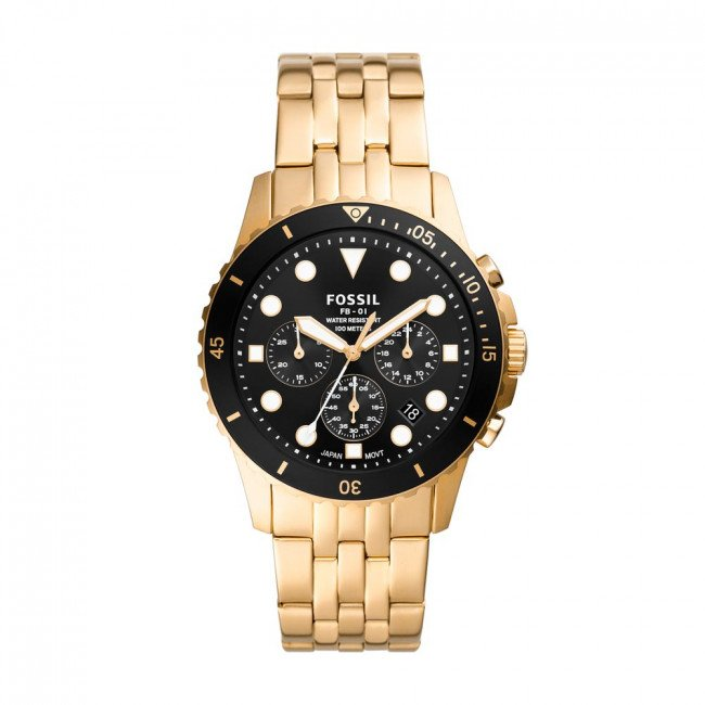 Hodinky FOSSIL - FB-01 FS5836 Gold/Gold