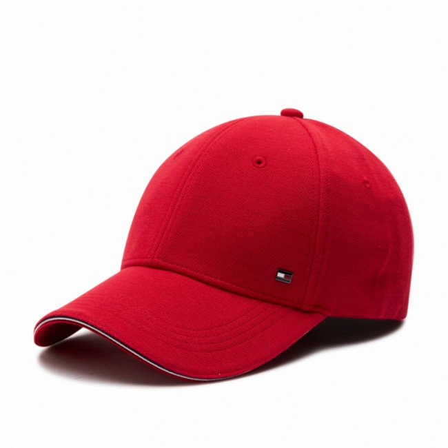 Šiltovka TOMMY HILFIGER - Elevated Corporate Cap AM0AM07346 Red