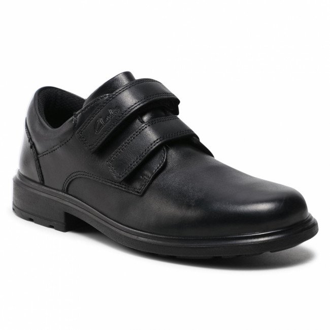 Poltopánky CLARKS - Remi Pace Y 261553107  Black Leather