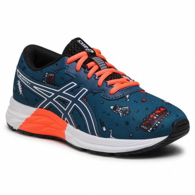 Topánky ASICS - Gel-Excite 7 Gs 1014A181 Mako Blue/White 401