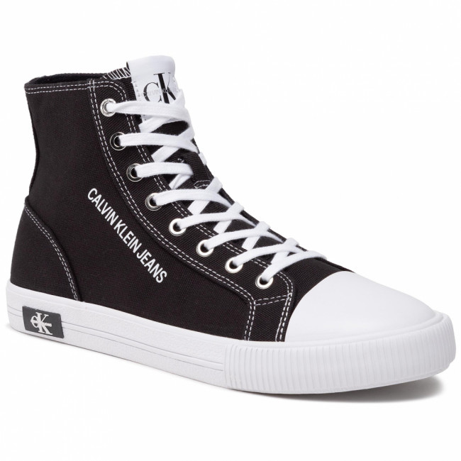 Tramky CALVIN KLEIN JEANS - Vulcanized Sneaker Highlaceup Co YM0YM00019 Black BDS