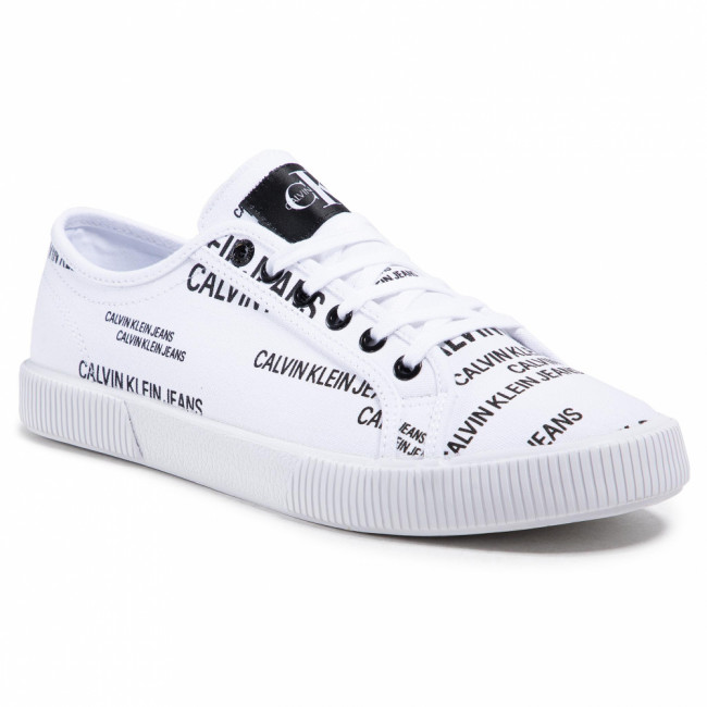 Tenisky CALVIN KLEIN JEANS - Vulcanized Sneaker Laceup Aop Co YM0YM00077 Bright White YAF