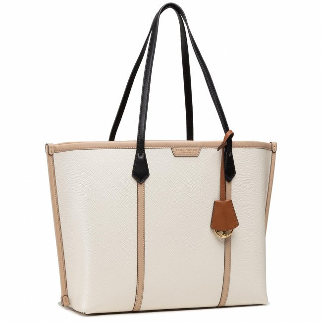 Kabelka TORY BURCH - Perry Color-Block Triple-Compartment Tote 77012 New Ivory 104