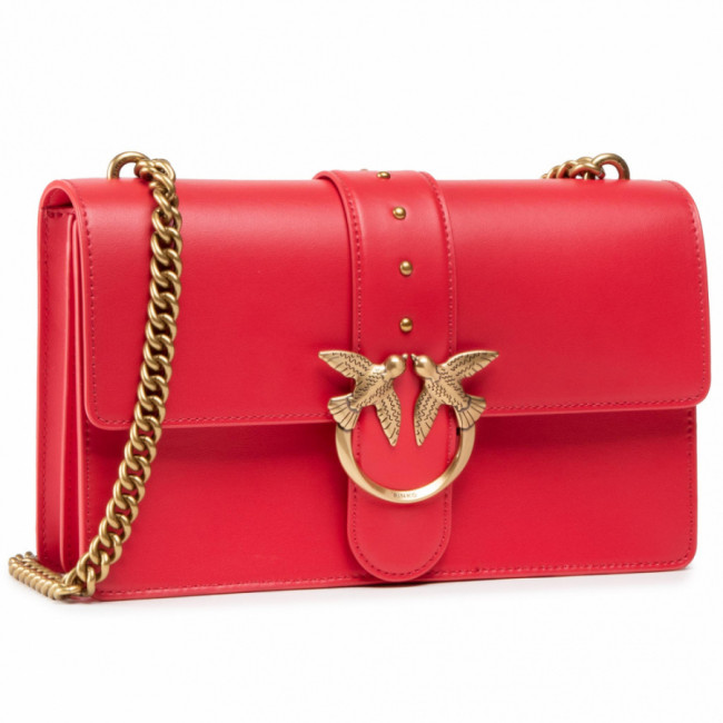 Kabelka PINKO - Love Classic Icon Simply 6 Cl. PE 21 PLTT 1P2281 Y6XT Red R43