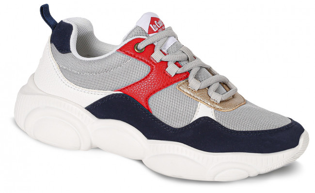 Lee Cooper biele tenisky Tricolor with Gold