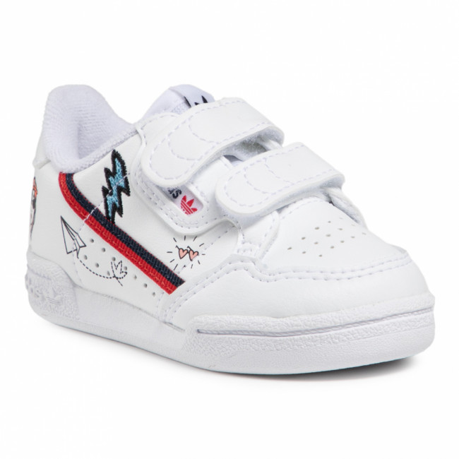 Topánky adidas - Continental 80 Cf I FX6071 Ftwwht/Conavy/Scarle