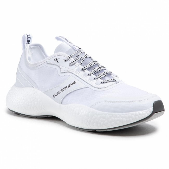 Sneakersy CALVIN KLEIN JEANS - Runner Sneaker Laceup Pu YM0YM00044 Bright White WHT