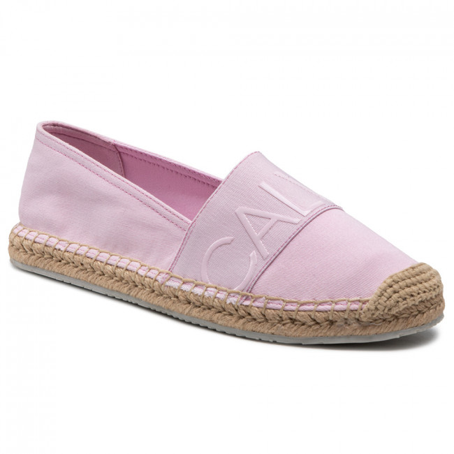 Espadrilky CALVIN KLEIN JEANS - Espadrille Roped Toe Co YW0YW0151 Pearly Pink TN9
