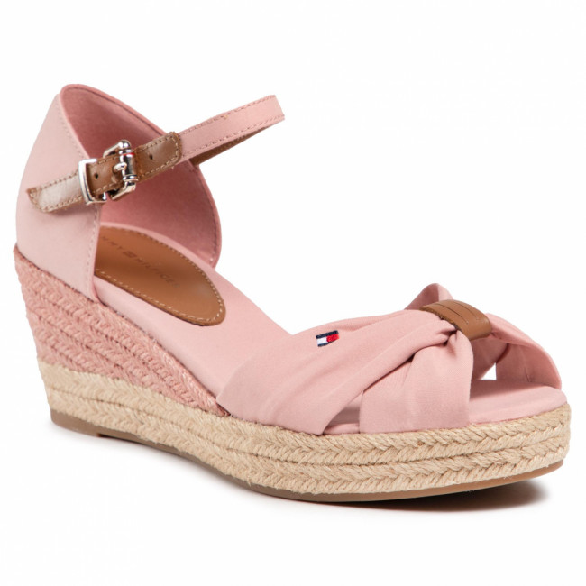 Espadrilky TOMMY HILFIGER - Basic Open Toe Mid Wedge FW0FW04785 Soothing Pink TQS