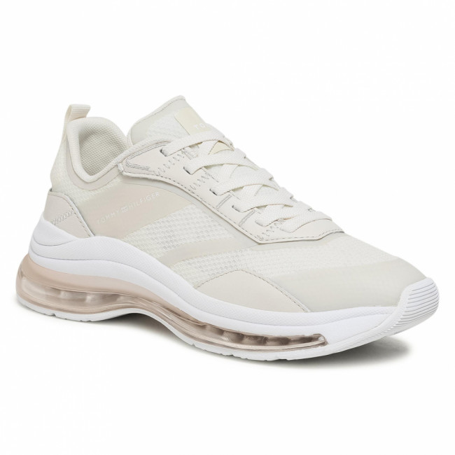 Sneakersy TOMMY HILFIGER - City Air Runner Mix FW0FW05567 White Dove AF2