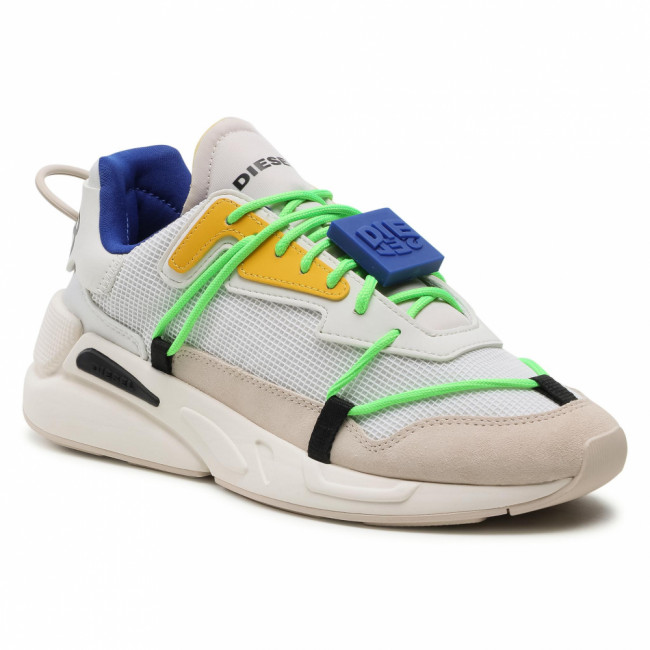Sneakersy DIESEL - S-Serendipity Lace Y02546 P4010 H8518 Star White/Golden Rod