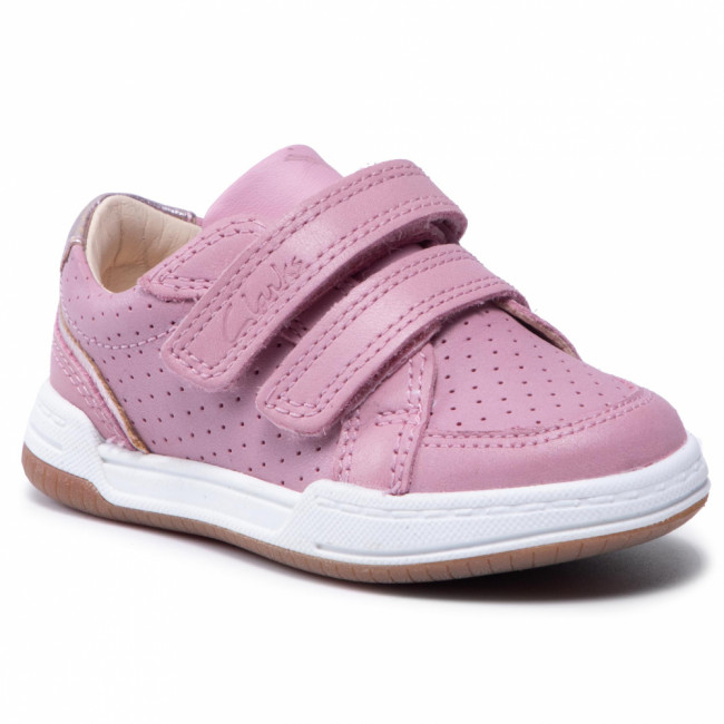 Sneakersy CLARKS - Fawn Solo T 261589896  Light Pink Leather