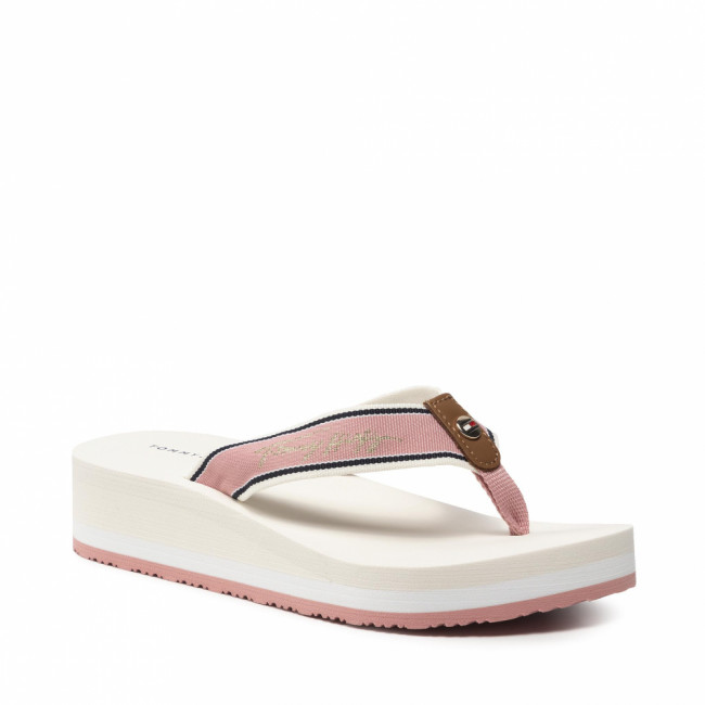 Žabky TOMMY HILFIGER - Mid Wedge Beach Sandal FW0FW05661 Soothing Pink TQS