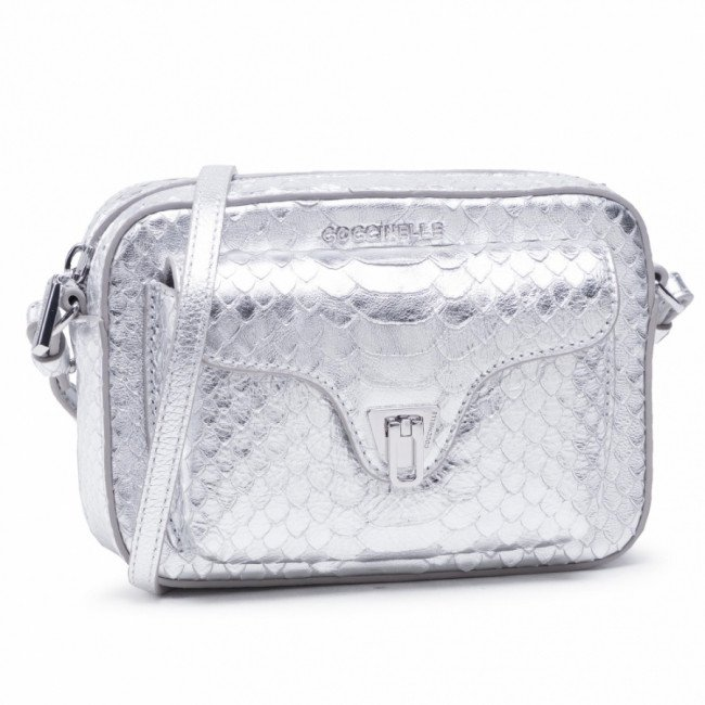 Kabelka COCCINELLE - HF4 Beat Python Lulula E1 HF4 55 04 01 Silver/Silver Y69