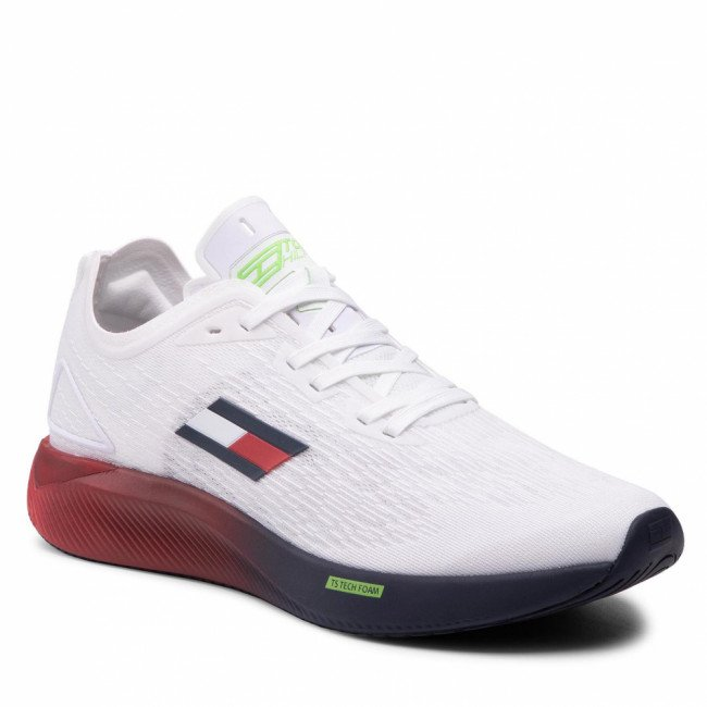 Sneakersy TOMMY HILFIGER - Ts Elite 3 FD0FD00028  Red White Blue 0GY
