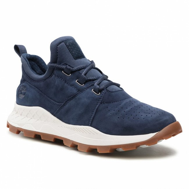Sneakersy TIMBERLAND - Brooklyn Lace Oxford TB0A1YVP019 Navy Suede