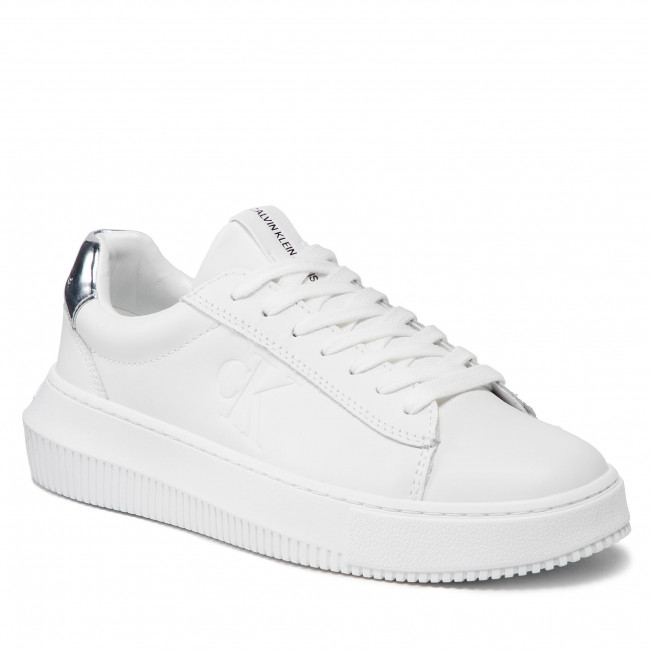 Sneakersy CALVIN KLEIN JEANS - Chunky Cupsole Laceup Sneaker M YW0YW00397 Bright White YAF