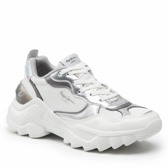 Sneakersy PEPE JEANS - Eccles Galaxy PLS31225 Silver 934