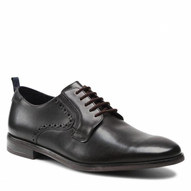 Poltopánky CLARKS - Stanford Lace 261632707  Dark Brown Leather