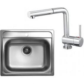 Set Sinks Kromevye TRITON 327 + MIX 350 P