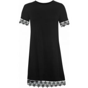 Glamorous Shift Trim Dress Black