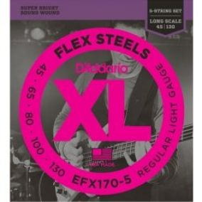 D´Addario EFX170-5 FlexSteels 5-String 45-130 Long