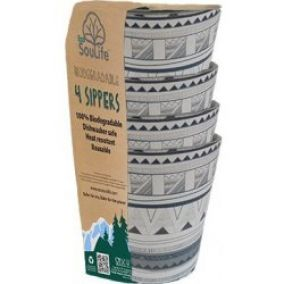 EcoSouLife Biodegradable Sippers 4ks tribal bliss