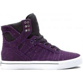 Supra Skytop Purple Black