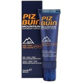 Piz Buin Sun Moutain Cream SPF50+ 20 ml + Lipstick
