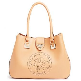 Guess Elegantná kabelka Quattro G Perforated Tote