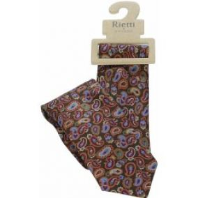 Rietti Jeans & Silk Dark Brown Paisley