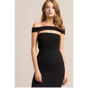 !!! Missguided - Body Cut Out Panel Bardot