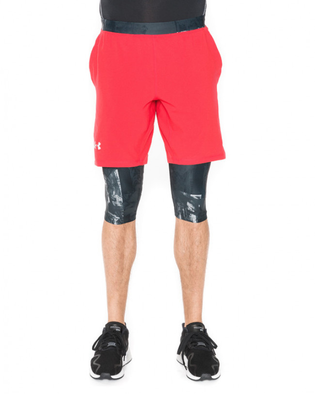 Under Armour Launch 2-in-1 Long Kraťasy Čierna Červená