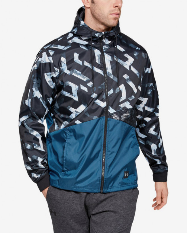 Under Armour Unstoppable Windbreaker Bunda Čierna Modrá