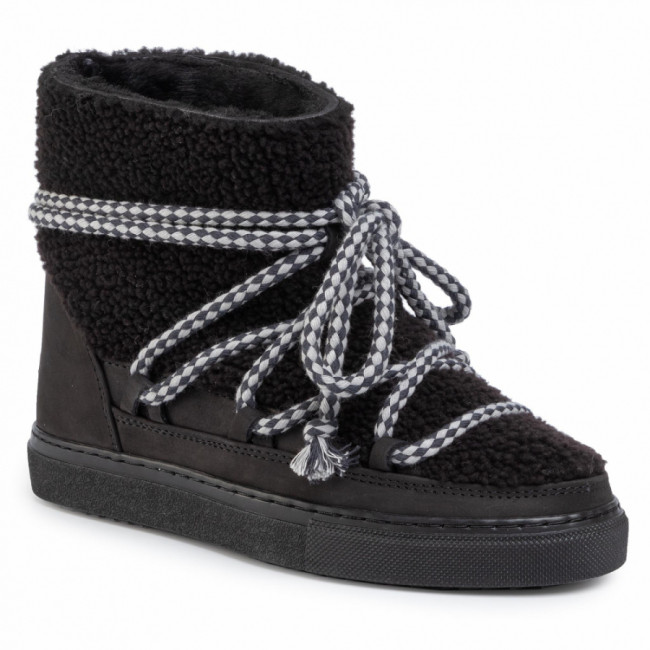 Topánky INUIKII - Sneaker Curly 70202-16 Black-Blk Cot. Laces