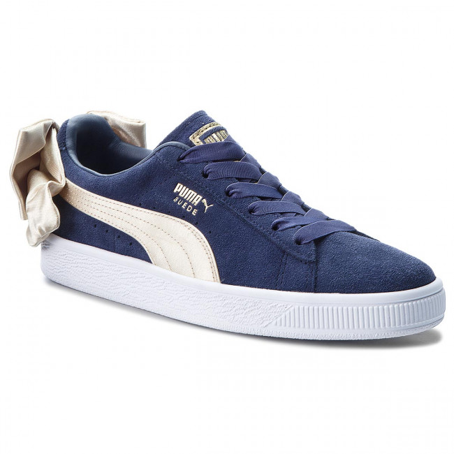 Sneakersy PUMA - Suede Bow Varsity Wn's 367732 02 Peacoat/Metallic Gold