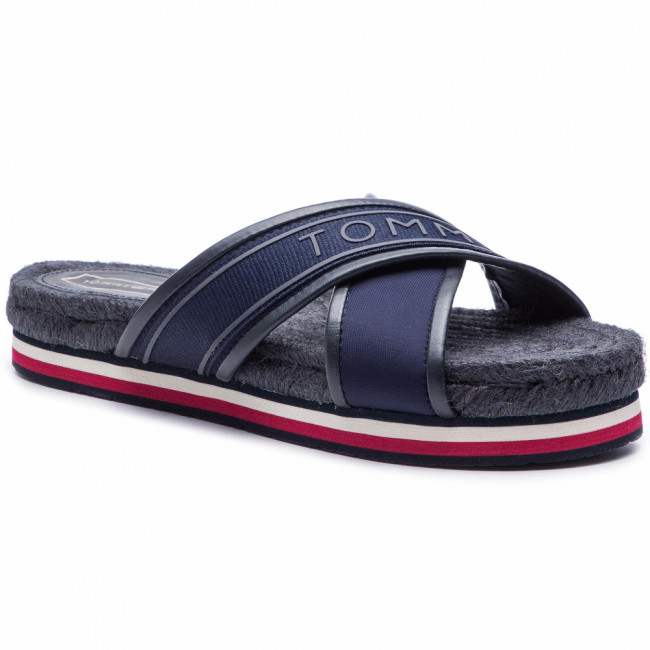 Espadrilky TOMMY HILFIGER - Colorful Tommy Flat Sandal FW0FW04159 Midnight 403
