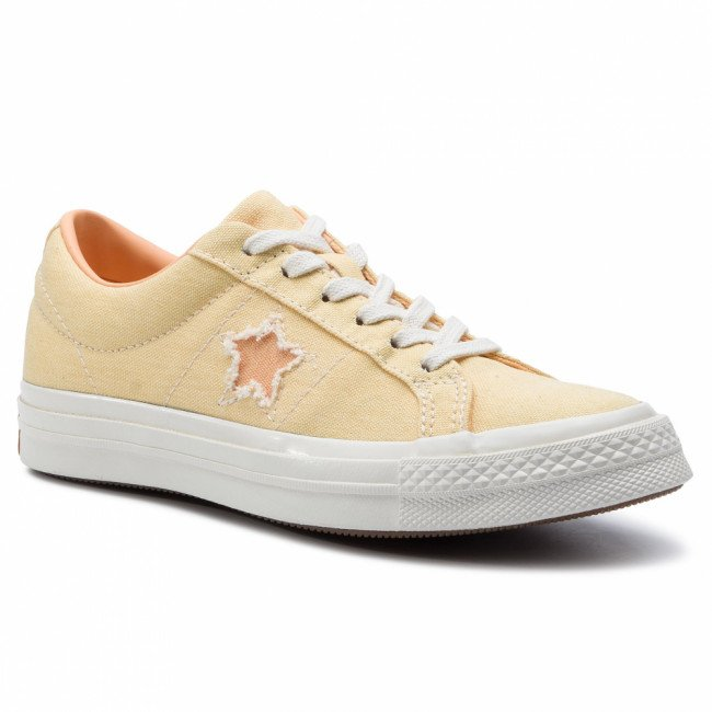 Tenisky CONVERSE - One Star Ox 164358C Butter Yellow/Melon Baller