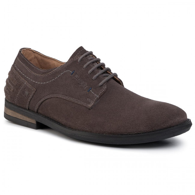 Poltopánky WRANGLER - Blake Derby Suede WM92083A  Anthracite 096