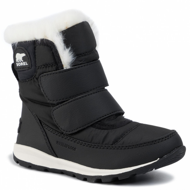 Snehule SOREL - Childrens Whitney Strap NC2940 Black/Sea Salt 010