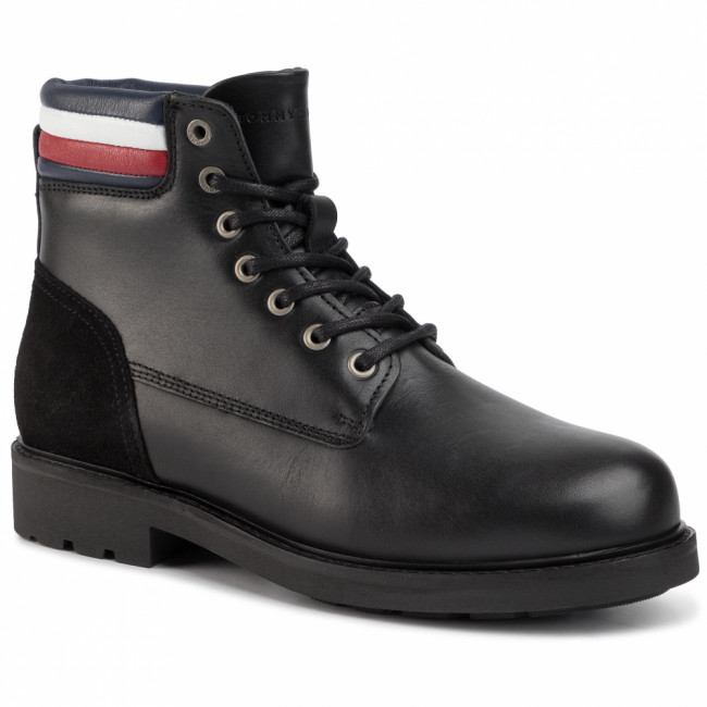 Outdoorová obuv TOMMY HILFIGER - Active Waterproof Boot FM0FM02428 Black 990