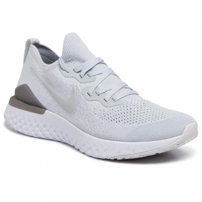 Topánky NIKE - Epic React Flyknit 2 BQ8928 004 Pure Platinum/Pure Platinum