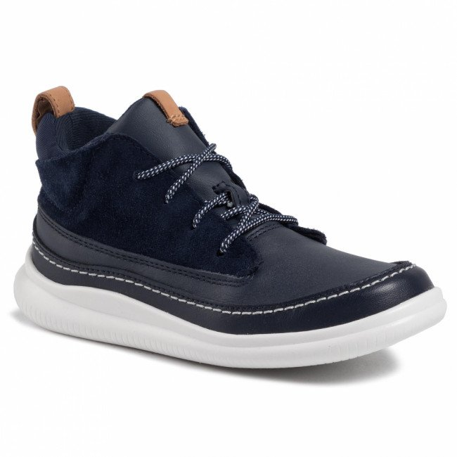 Outdoorová obuv CLARKS - Cloud Air K 261413426  Navy Leather